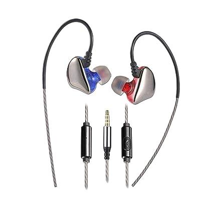 UKCOCO Auriculares Deportivos con Cable, 3.5mm Auriculares estéreo ...