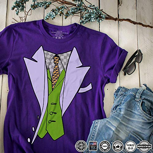 (Joker Tuxedo Funny Lazy Halloween Costume Customized Handmade T-Shirt Hoodie/Long Sleeve/Tank Top/Sweatshirt)