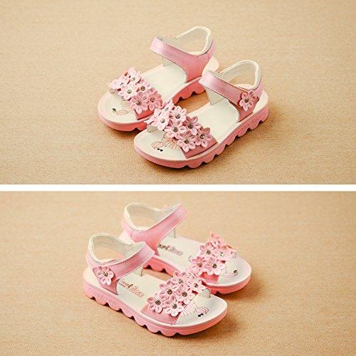 Scothen Niñas zapatos de playa sandalias de verano al aire libre romanas sandalias de los niños zapatos de la princesa del flip-flop zapatillas de deporte bailarina niñas sandalias de verano Pink