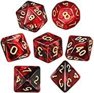 QMAY Polyhedral Dice,DND Dice Set Double-Colors DND Dice Role Playing Dice for Dungeon and Dragons Table Games
