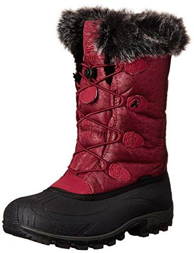 Femme Bottes Dark ski Kamik NK2349 Red de Momentum wvEgxqXWxa