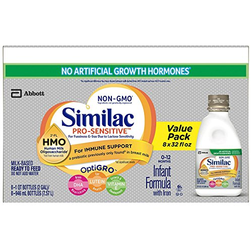 Similac Pro-Sensitive Ready-to-Feed Infant Formula with HMO (8-pack, 32 ounces)