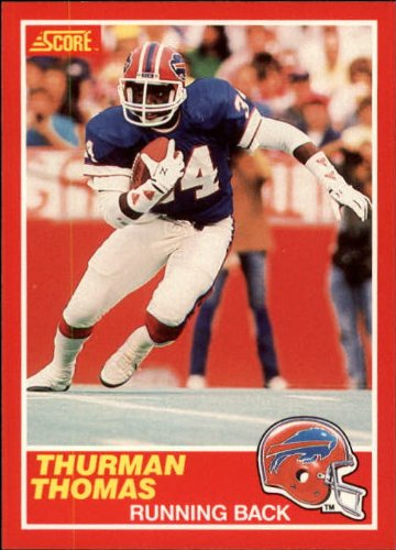 1989 Score Football Rookie Card #211 Thurman Thomas Mint
