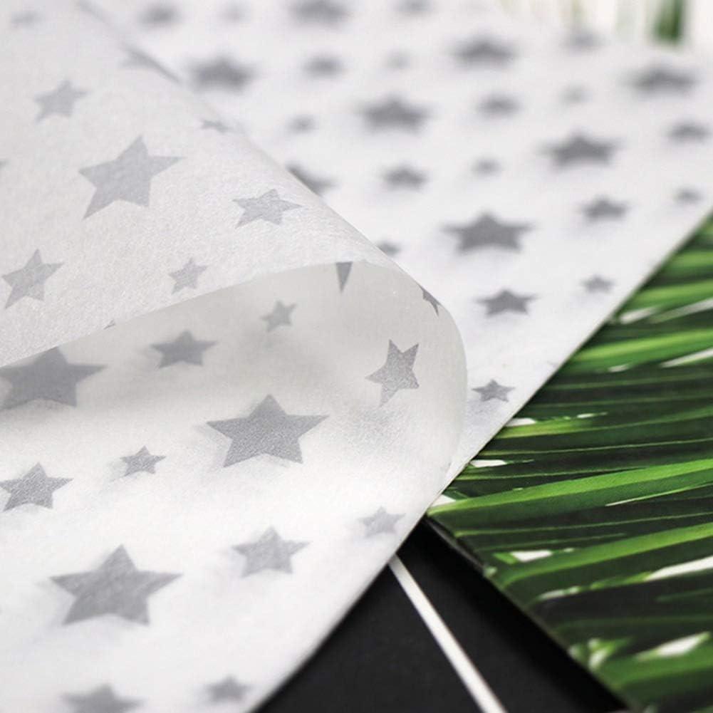 Chutoral Lot de 50 feuilles de papier de soie /à pois Dor/é