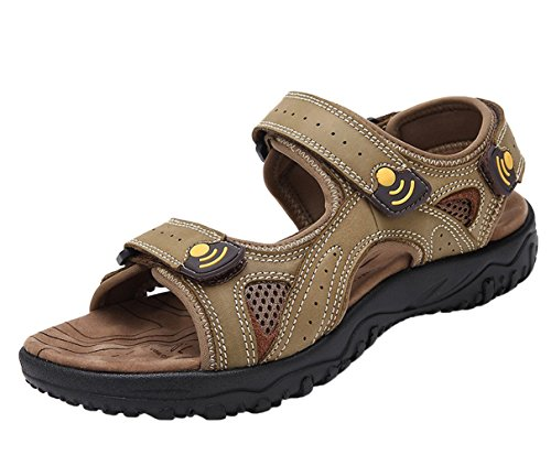 Men's Stitch As Outdoor Leather Picture Chickle Strap Sandal qd1RqO