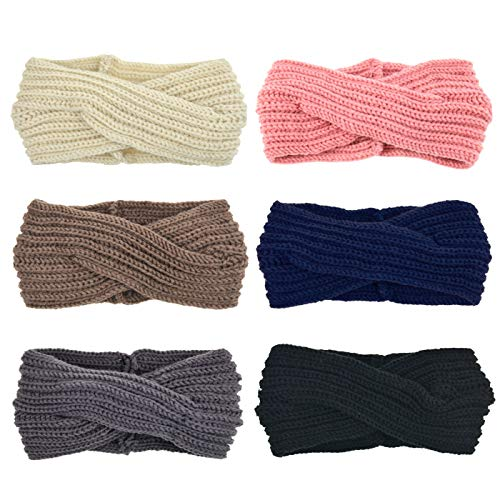Cross Crochet (DRESHOW Women's Headbands Headwraps Hair Bands Bows Accessories (6 Pack Crochet Cross))