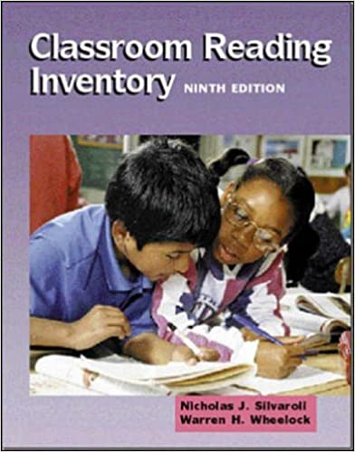 Book Classroom Reading Inventory