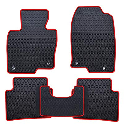 Ucaskin Car Floor Mats Custom Fit for Mazda CX 5 CX-5 SUV 2020 2020 2020 2020 Odorless Washable Rubber Foot Carpet Heavy Duty Anti-Slip All Weather Protection Car Floor Liner-Red: Automotive