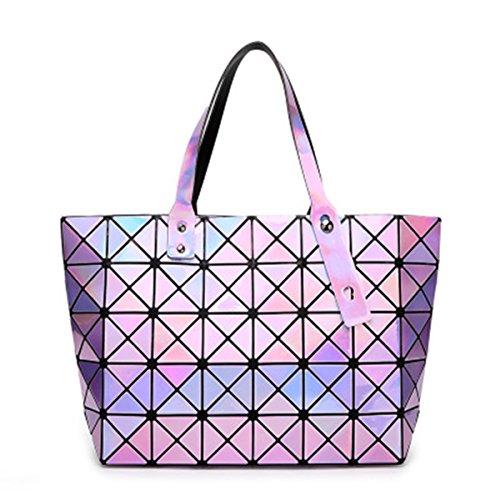 Mirror Purple Rhombus Messenger Shoulder Bags BeautyWJY Handbags Handbag Geometric Womens Girl YnaZBfv