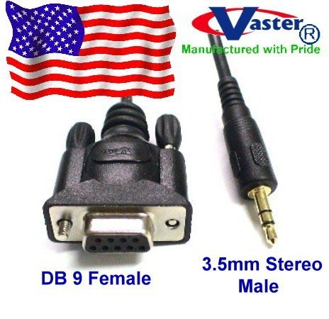 SuperEcabe - 20224 - DB 9 Female to Stereo 3.5mm Plug (Shielded) Data Cable 35 pcs / pack by Vaster