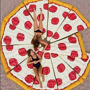 XCXDX Pizza Inflable Fila Flotante, Piscina De Verano Fiesta ...