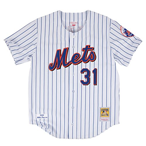 Mitchell & Ness Mike Piazza 2000 Authentic Jersey New York Mets In White Size Large