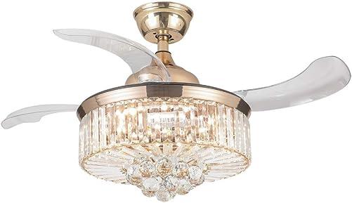Modern Crystal Chandelier Ceiling Fan