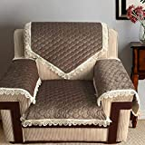 QY&LA Lace sectional Sofa Throw Covers, Quilted Furniture Sofa Protector, Suitable Sofas,Tatami mats,Bay Window mats,Floor mats,Etc-Brown 70x210cm(28x83inch)
