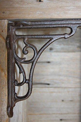 Art Deco Inspired Cast Iron Shelf Brackets, 6 1/2