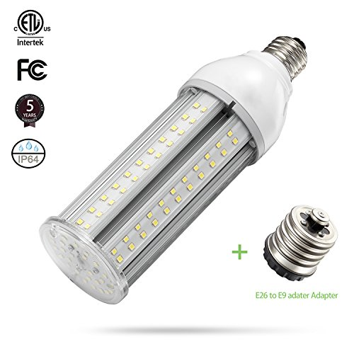 Lite Post (24W LED Corn Light Bulb E26 Medium Screw Base, 5000K Daylight 3120 lm CFL HID Hps Metal Halide Replacement(75-100W) for Indoor Outdoor Street and Area Light Post Top Garage Garden Light Super Bright)