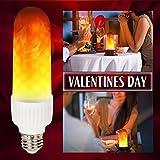 TaoTens LED Flame Light Bulbs,E26/ E27 LED Flame Effect Fire Light Bulbs like Nature Fire in Antique Lantern for Holiday Hotel/ Bars/ Home Decoration (1 Pack)