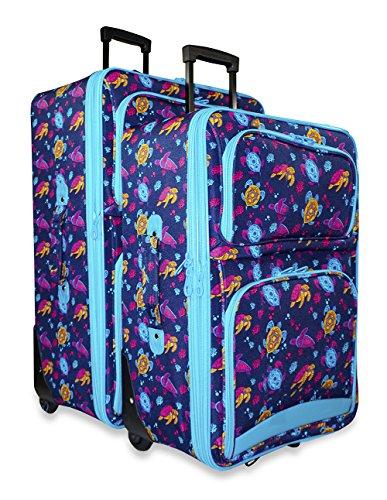 Ever Moda Sea Turtle 2-Piece Luggage Set by Ever Moda