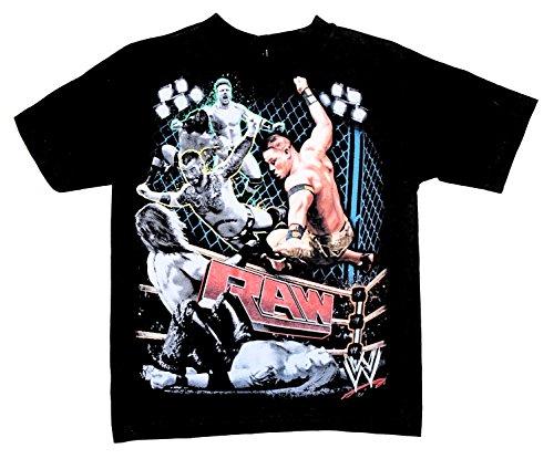 WWE RAW Wrestler Little Boys Tee T-Shirt Top (X-Small 4/5)