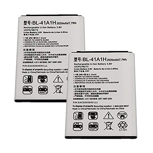 (Generic World Star BL-41A1H (2-PC) 2100mAh 3.8V Battery for LG Optimus F60, LG Tribute with 2 Year Limited Warranty)