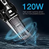 4-in-1 Car Vacuum Cleaner, Elecwave 12V 120W Wet & Dry 4Kpa Suction Handheld Auto Vacuum Cleaner with Cigarette Lighter Plug 18 FT(5.5M) Power Cord, Carrying Bag and Replaceable Filter
