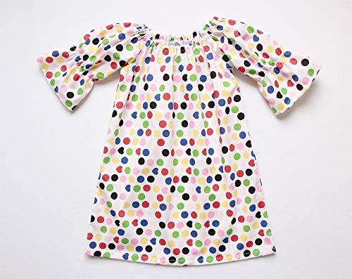 Polka Dot Girls Dress Peasant Dress Thanksgiving Dress