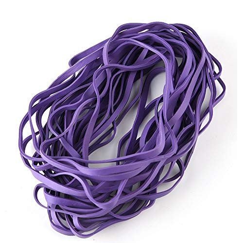 (Coopay 60 Pieces Large Rubber Bands Trash Can Band Set Elastic Bands for Office Supply, Trash Can, File Folders, Cat Litter Box, Size 8 inches (Purple))