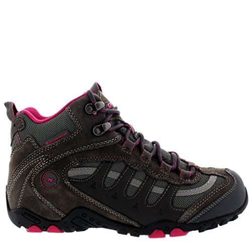Dames Hi-tec Penrith Mid Waterproof Snow Warm Rainboot Winter Sneakers Chacoal