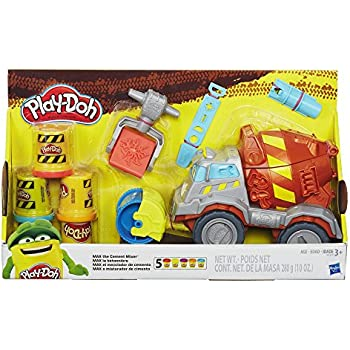 Play doh trash tossin 39 rowdy the garbage truck for Tonka mighty motorized cement mixer
