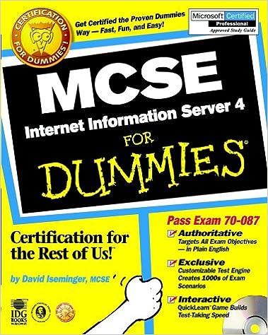 Microsoft internet information server 4. 0: jason c. Helmick.