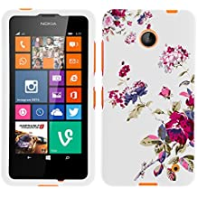 MINITURTLE, Slim Fit Graphic Design Image 2 Piece Snap On Protector Hard Phone Case Cover, Stylus Pen, and Clear Screen Protector Film for Prepaid Windows Smartphone Nokia Lumia 635 from /AT&T, /T Mobile, /MetroPCS (Delicate Flowers)