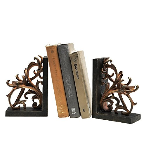Elegant Scroll Bookends ()