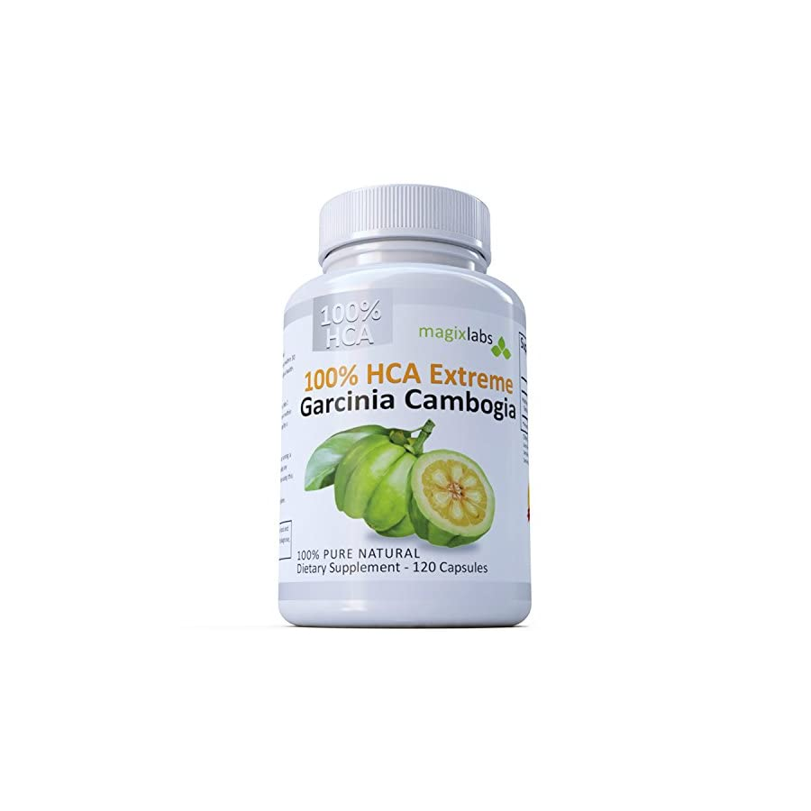 100% HCA Extreme Garcinia Cambogia Extract – 100% Pure All Natural 120 Caps – The Ultimate Fast Action Diet Supplement by MagixLabs