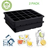 Ice Cube Tray, Playmont Food Grade Silicone Ice Mold Maker, Square shaped Ice