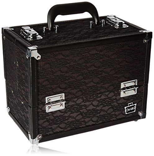 Caboodles Make Me Over 4 Tray Train Case, Black Lace, 3.5 Pound (Train Tray)