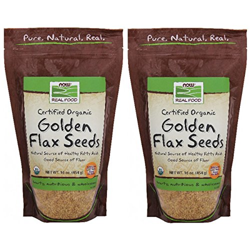 Organic Golden Flax Seeds, 16 ozs, (Pack of 2)