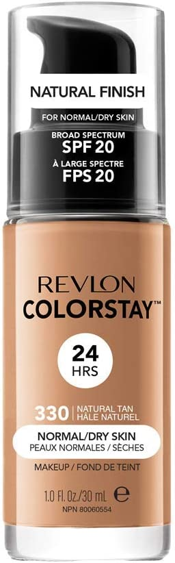 Oferta amazon: Revlon ColorStay Base de Maquillaje piel normal/seca FPS20 (#330 Natural Tan) 30ml
