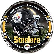 "WinCraft NFL Chrome Clock, 12"""