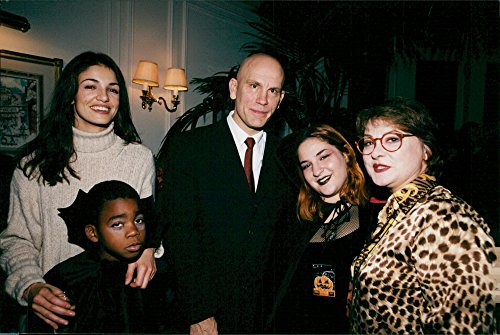 Vintage photo of Nadia Far232;s, John Malkovich and