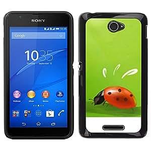 // PHONE CASE GIFT // Duro Estuche protector PC Cáscara Plástico Carcasa Funda Hard Protective Case for Sony Xperia E4 / Plant Nature Forrest Flower 10 /