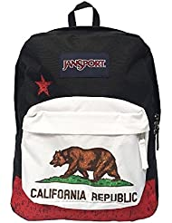 JanSport Superbreak Boys School Backpack B1022: Red New California Republic