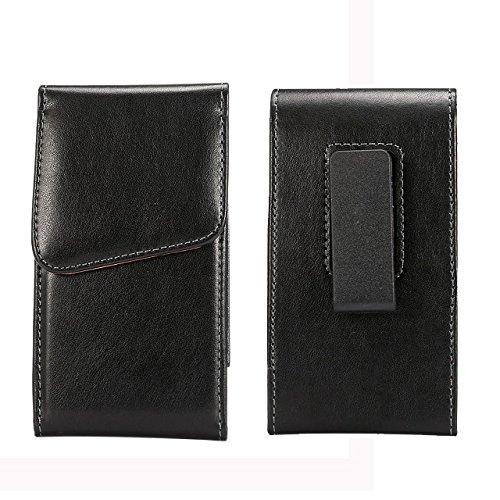 Premium PU Leather Vertical Executive Holster Belt Clip Pouch Case for iPhone 7 Plus / BLU R1 Plus / OnePlus 5 /3T / Motorola Moto G5 Plus / Z2 Play - Executive Vertical Case