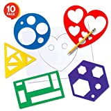 Karty Shape Stencil Set for Kids - 10 Piece Set - Colorful Drawing Template Kit - Fun Arts and Crafts Supplies, Gift Idea for Boys and Girls, Learning Tool for Toddlers and Preschooler