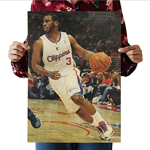 Fangeplus(R)Chris Paul NBA Basketball Player Star Athlete Sports Poster Antique Vintage Old Style Decorative Poster Print Wall Coffee Shop Bar Decor Decals - Athlete Contact Shop Number