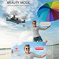 Eachbid JJRC H49WH Drone, WIFI FPV 720P Camera ,4CH 6Axis Headless Mode,Ultra thin RC Quadcopter RC Helicopter Automatic Air Pressure High Black