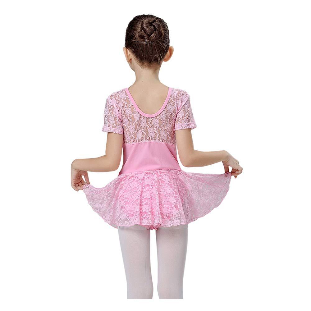 Xinvision Girls Ballet Dress Gymnastics Dance Lace Tutu Skirt Leotard Dancewear