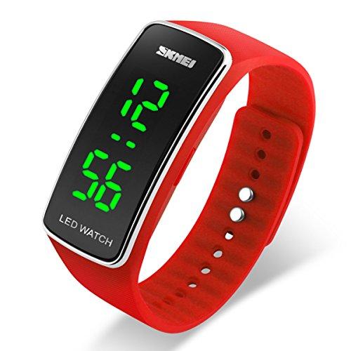 Red Unisex Watch (Watch Unisex Digital Watch Waterproof Sport Wristwatch for Boys Girls Men Women (red))