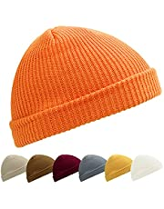 Kordear Trawler Beanie Solid Color Fisherman Hat Daily Wearing Roll up Knitted Hat Fashion Fisherman Beanie Hat for Unisex