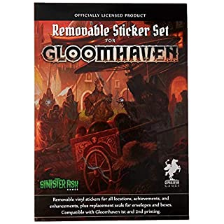 Gloomhaven Removable Sticker Set, Removable Stickers