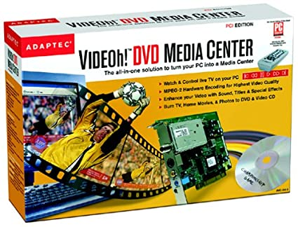 ADAPTEC VIDEOH DVD MEDIA DRIVER FOR PC
